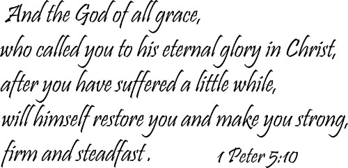 1 Peter 5:10 ~ Vinyl Wall Decal by Scripture Wall Art Image
