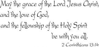 2 Corinthians 13:14 Bible Verse Wall Art