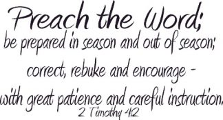 2 Timothy 4:2 Bible Verse Wall Art