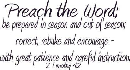 2 Timothy 4:2 Bible Verse Wall Art