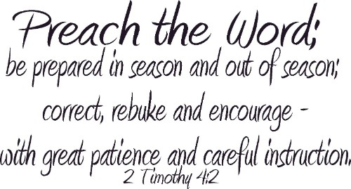 2 Timothy 4:2 Vinyl Wall Decal by Scripture Wall Art Image