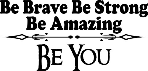 Be Brave Be Strong Vinyl Wall Decal by Scripture Wall Art Image