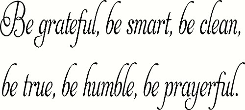 Be Grateful, Be Smart Vinyl Wall Decal by Scripture Wall Art Image