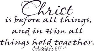 Colossians 1:17 Bible Verse Wall Art