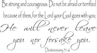 Deuteronomy 31:6 Bible Verse Wall Art
