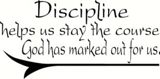 Discipline ~ Bible Based Wall Decal