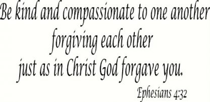 Ephesians 4:32 Bible Verse Wall Decal