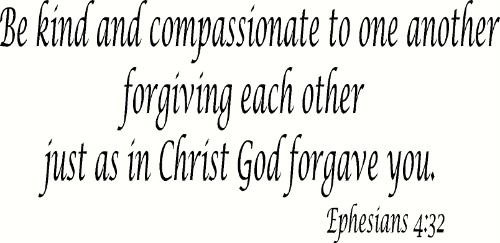 Ephesians 4:32 Vinyl Wall Decal by Scripture Wall Art Image