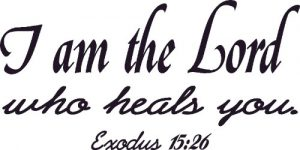 Christian Decal Exodus 15:26 Vinyl Wall Quote