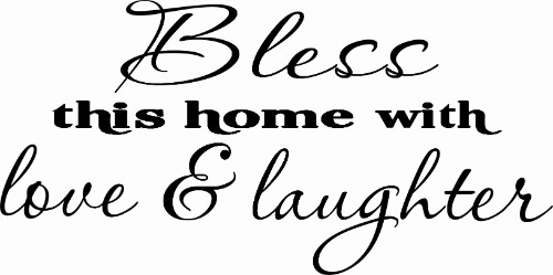 Bless This Home ~ Vinyl Wall Decal by Scripture Wall Art Image