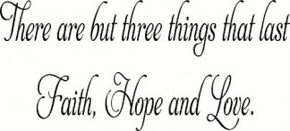 Faith Hope Love Bible Verse Wall Decor
