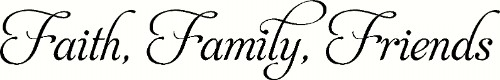Faith Family Friends Family Wall Quote Image