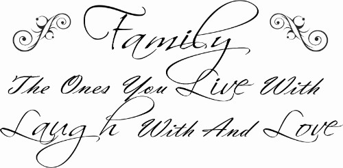 Family The Ones You Live With Family Wall Quote Image