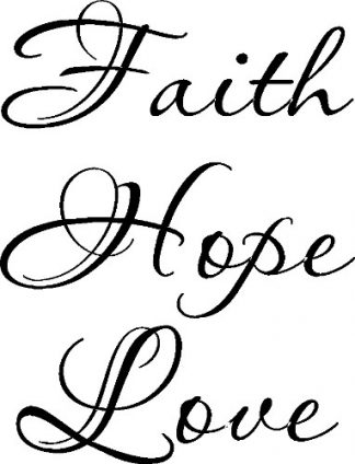 Faith Hope Love Vinyl Wall Decal
