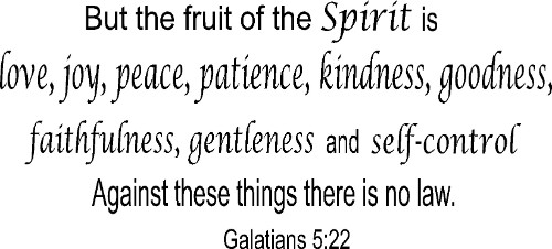 Galatians 5:22 Bible Verse Wall Decal Image