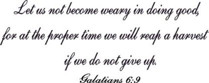 Galatians 6:9 Bible Verse Wall Art