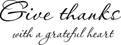 Give Thanks ~ Family Wall Decal