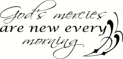 God's Mercies ~ Chrsitian Wall Art