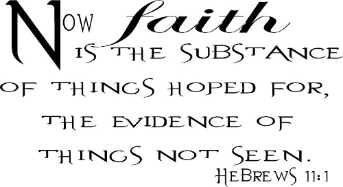 Hebrews 11:1 Vinyl Wall Decal by Scripture Wall Art Image