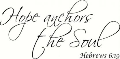 Hebrews 6:19 Bible Verse Wall Decal