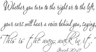 Isaiah 30:21 Vinyl Scripture Wall Stickers