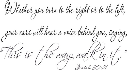 Isaiah 30:21 Vinyl Wall Decal by Scripture Wall Art Image