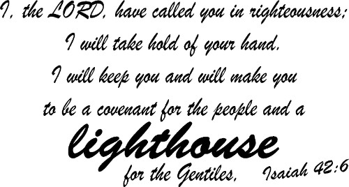 Isaiah 42:6 Vinyl Wall Decal by Scripture Wall Art Image