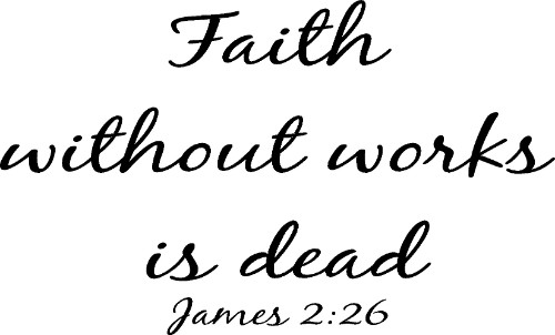James 2:26 ~ Vinyl Wall Decal by Scripture Wall Art Image