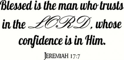 Jeremiah 17:7 Bible Verse Wall Decor
