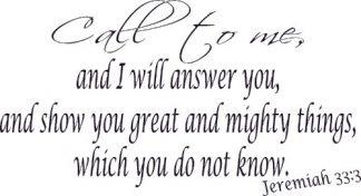 Jeremiah 33:3 Scripture Wall Art