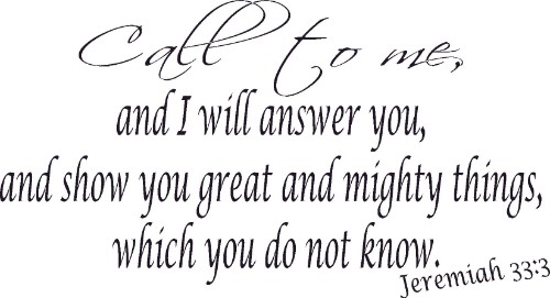 Jeremiah 33:3 Bible Verse Wall Decal Image
