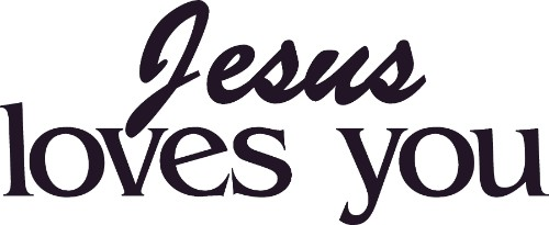 Jesus Loves You ~ Vinyl Wall Decal by Scripture Wall Art Image