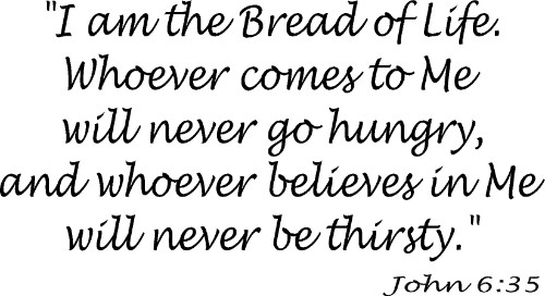 John 6:35 Bible Verse Wall Quote Image