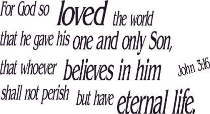 John 3:16 Bible Verse Wall Sticker