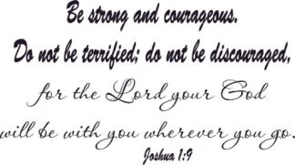 Joshua 1:9 Scripture Wall Art