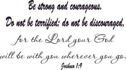 Joshua 1:9 Scripture Wall Art