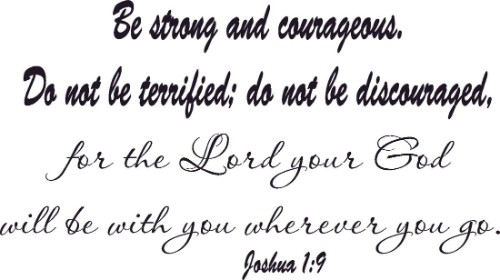 Joshua 1:9 Bible Verse Wall Decal Image