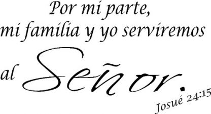 Josue 24:15 Spanish Christian Wall Decal