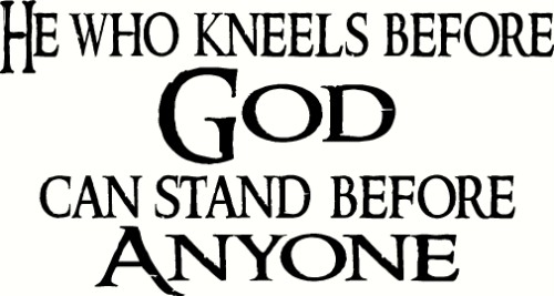 He Who Kneels Before Vinyl Wall Decal by Scripture Wall Art Image