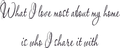 What I Love Most Romantic Wall Quote Decal Image