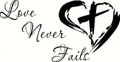 Love Never Fails Christian Inspirational Quote 1 Corinthians