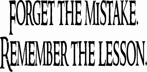 Forget the Mistake Inspirational Wall Decal Quote Image