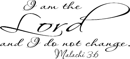 Malachi 3:6 Vinyl Wall Decal by Scripture Wall Art Image
