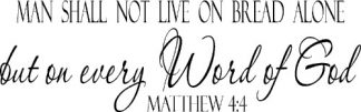 Matthew 4:4 Bible Verse Wall Quotes