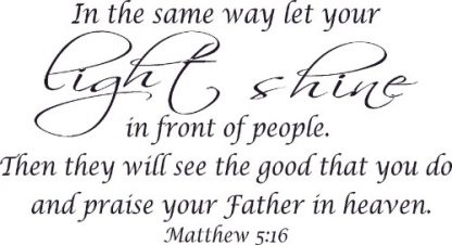 Matthew 5:16 Vinyl Wall Art