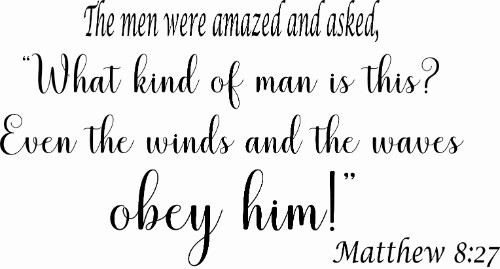 Matthew 8:27 ~ Vinyl Wall Decal by Scripture Wall Art Image