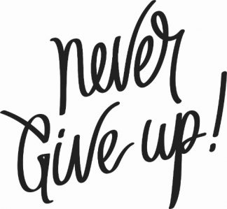 Never Give Up Viinyl Wall Decal
