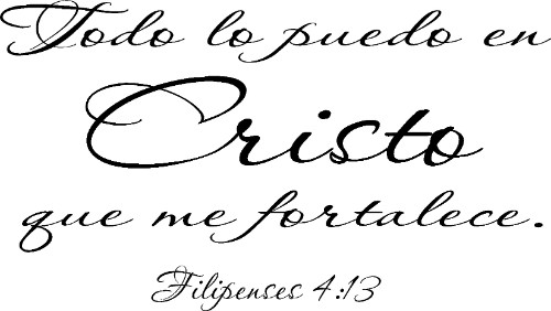 Filipenses 4:13 in Spanish Vinyl Wall Decal Image