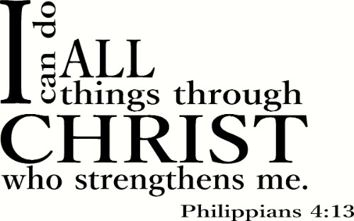 Philippians 4:13 V2 Bible Verse Wall Art Image