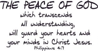 Philippians 4:7 Vinyl Scripture Wall Stickers